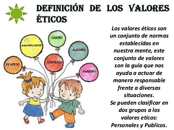 ¿Qué son los valores éticos?