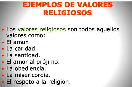 Valores cívicos religiosos