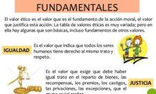 Valores éticos fundamentales